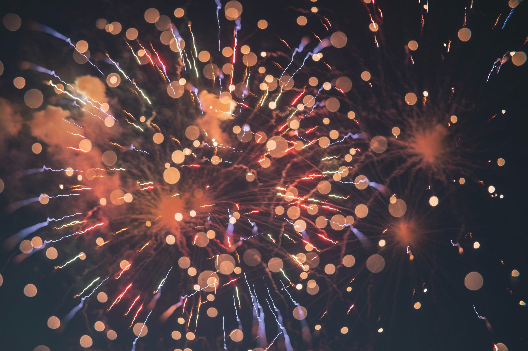 fireworks display celebrating recovery